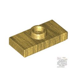 Lego PLATE 1X2 W. 1 KNOB, Gold