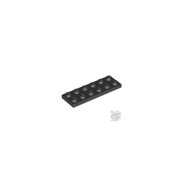Lego Plate 2X6, Black