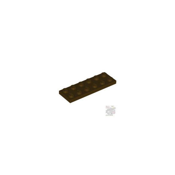 Lego Plate 2X6, Dark brown