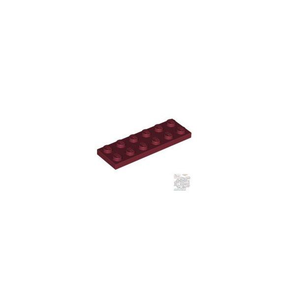 Lego PLATE 2X6, Dark red