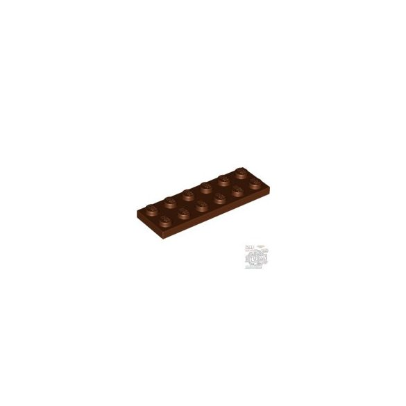 Lego Plate 2X6, Reddish brown