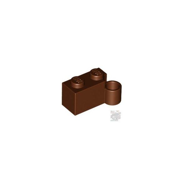 Lego HINGE 1X2 LOWER PART, Reddish brown