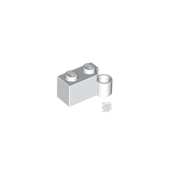 Lego HINGE 1X2 LOWER PART, White