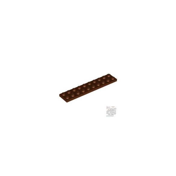 Lego Plate 2X10, Reddish brown
