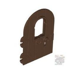 Lego DOOR 4X6 W/WINDOW, Brown