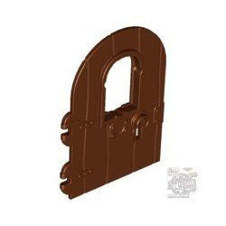 Lego DOOR 4X6 W/WINDOW, Reddish brown