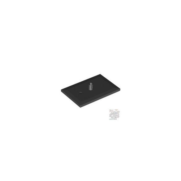 Lego Bogie Plate 4X6 (5mm pin), Black