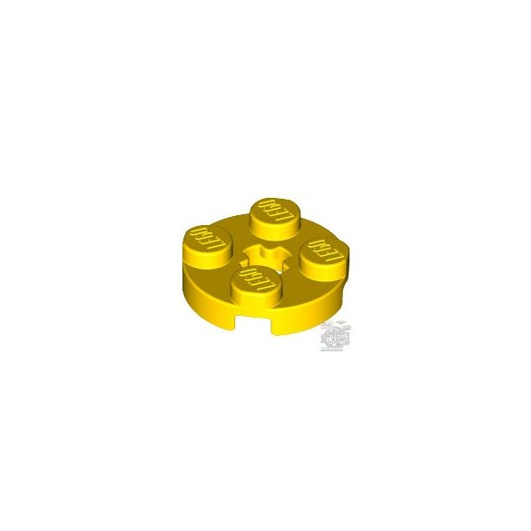Lego PLATE 2X2 ROUND, Bright yellow