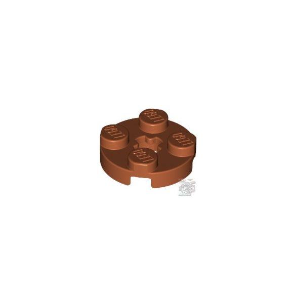 Lego Plate 2X2 Round, Dark orange