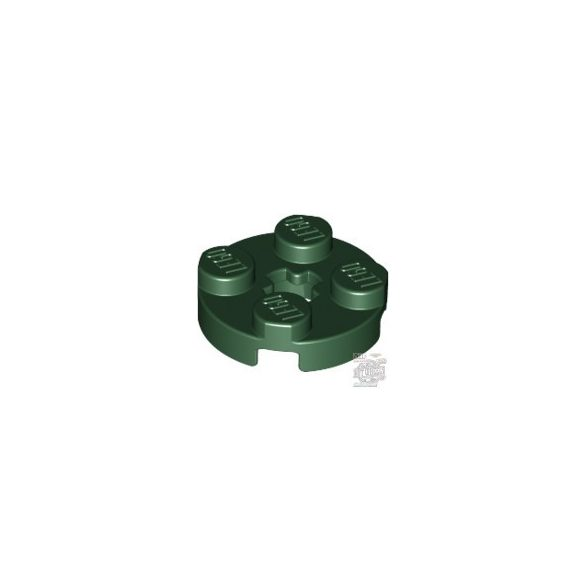 Lego PLATE 2X2 ROUND, Earth green