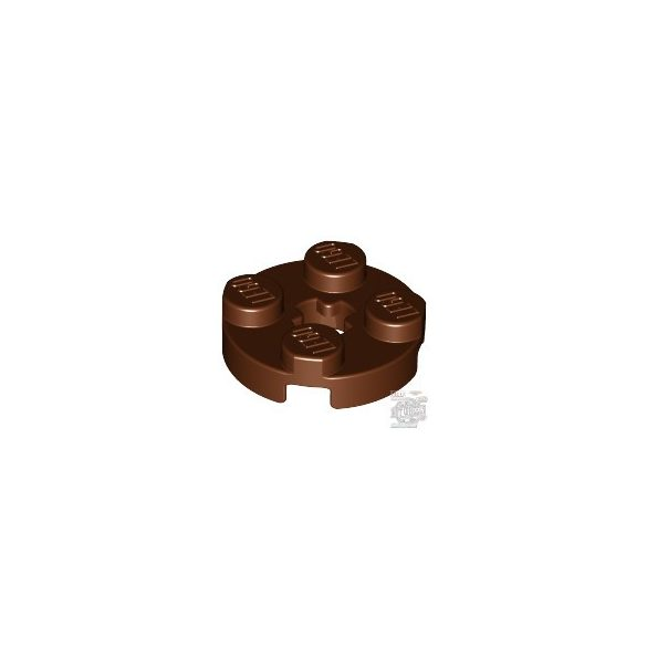 Lego Plate 2X2 Round, Reddish brown