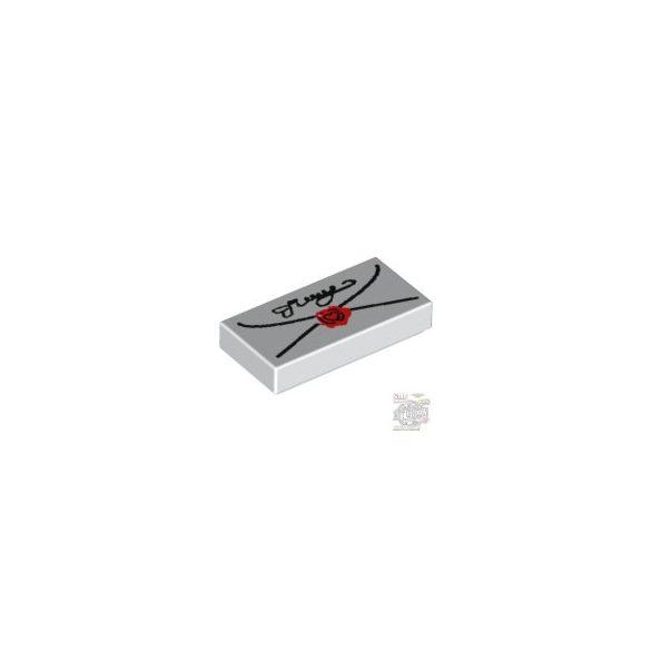 Lego FLAT TILE 1X2 NO. 55, White