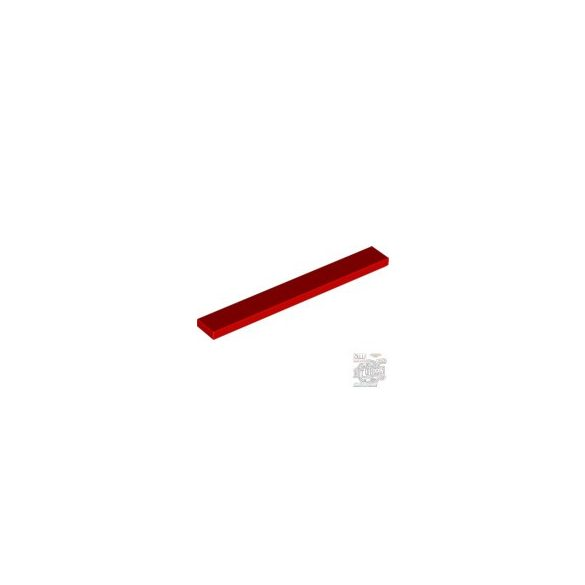 Lego Flat Tile 1X8, Bright red