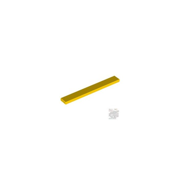 Lego Flat Tile 1X8, Bright yellow