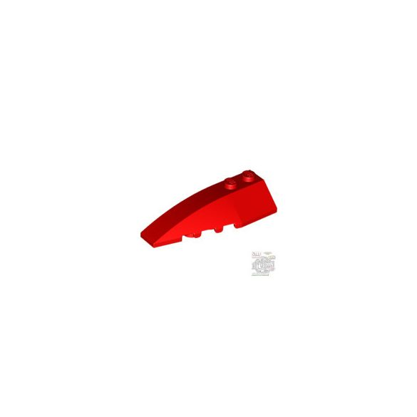 Lego LEFT SHELL 2X6 W/BOW/ANGLE, Bright red