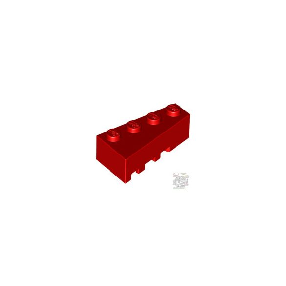Lego RIGHT BRICK 2X4 W/ANGLE, Bright red