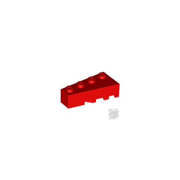 Lego LEFT BRICK 2X4 W/ANGLE, Bright red