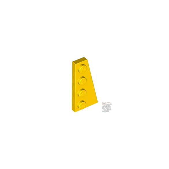 Lego Right Plate 2X4 W/Angle, Bright yellow