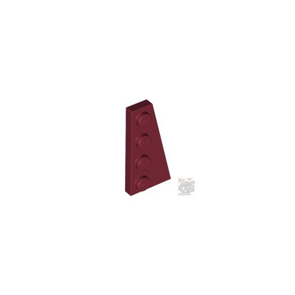 Lego RIGHT PLATE 2X4 W/ANGLE, Dark red