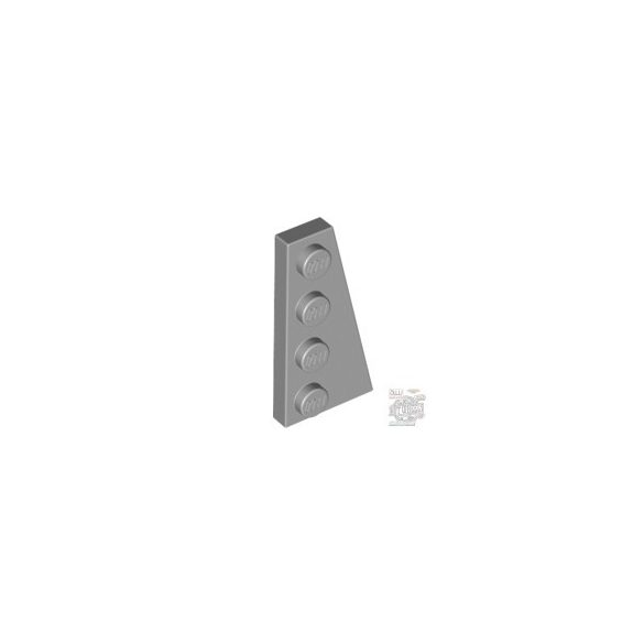 Lego Right Plate 2X4 W/Angle, Light grey