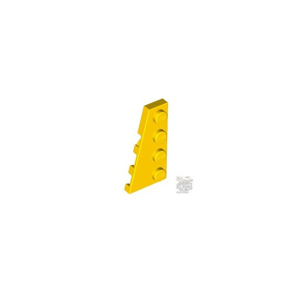 Lego LEFT PLATE 2X4 W/ANGLE, Bright yellow