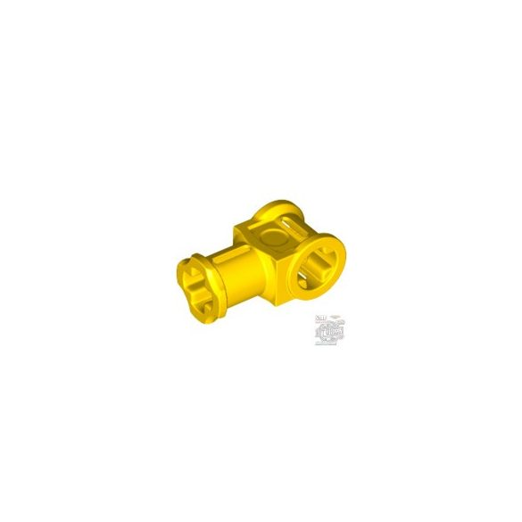 Lego Technic, Axle Connector with Axle Hole, Bright yellow
