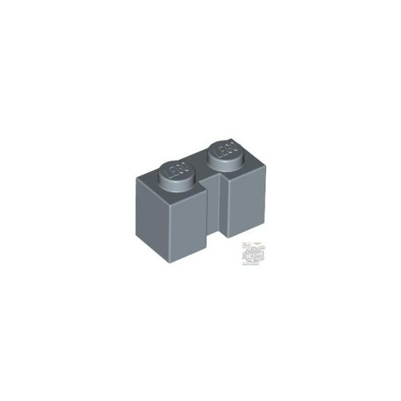 Lego BRICK 1X2 W. GROOVE, Sand Blue