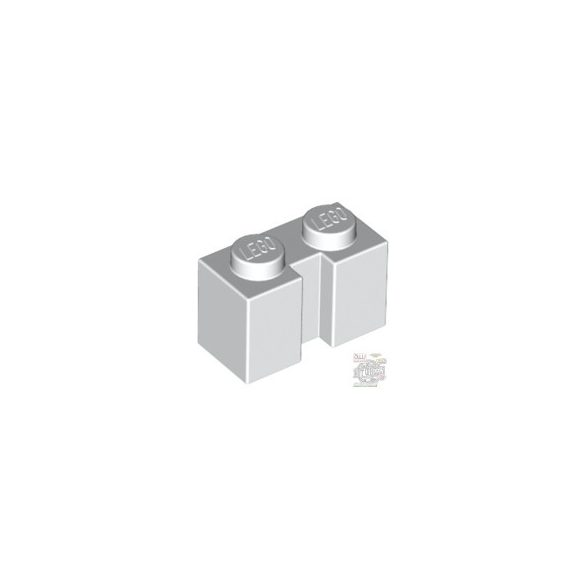 Lego BRICK 1X2 W. GROOVE, White