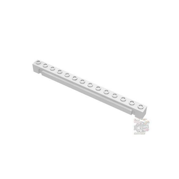 Lego Brick 1X14 W. Groove, White