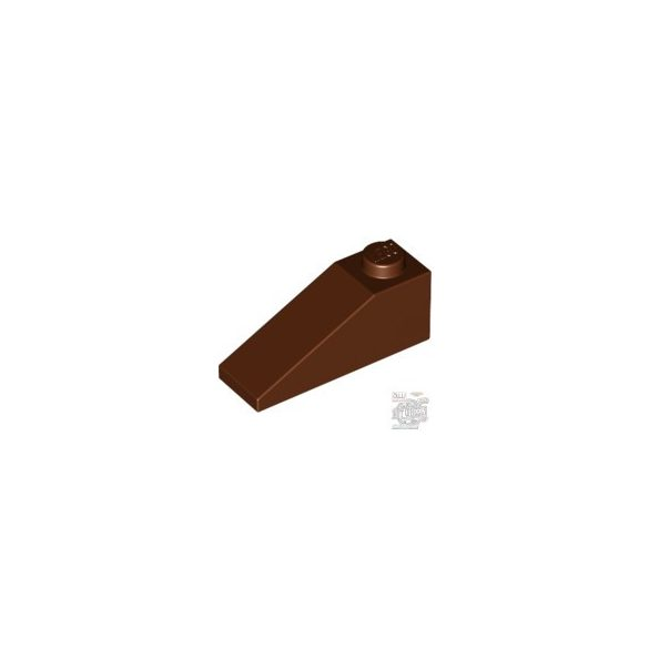 Lego ROOF TILE 1X3/25°, Reddish brown