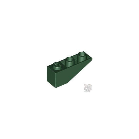 Lego ROOF TILE 1X3/25° INV., Earth green