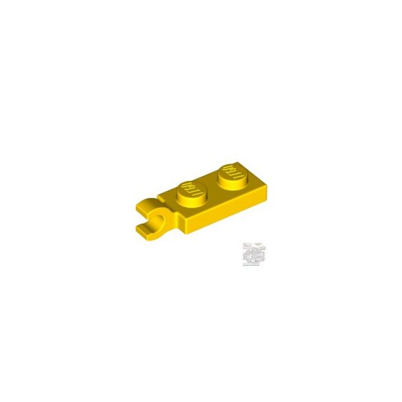 Lego PLATE 2X1 W/HOLDER,VERTICAL, Bright yellow