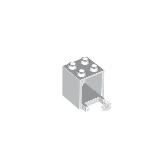 Lego MAILBOX, CASING 2X2X2, White