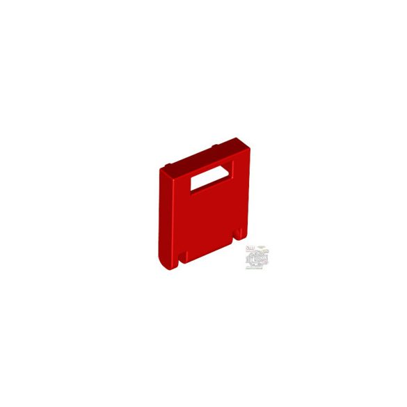 Lego MAILBOX, FRONT 2X2, Bright red