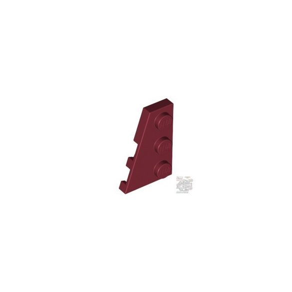 Lego LEFT PLATE 2X3 W/ANGLE, Dark red