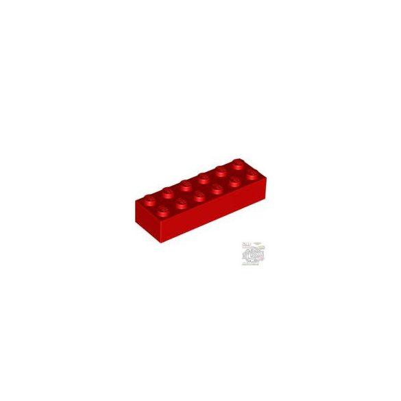 Lego BRICK 2X6, Bright red