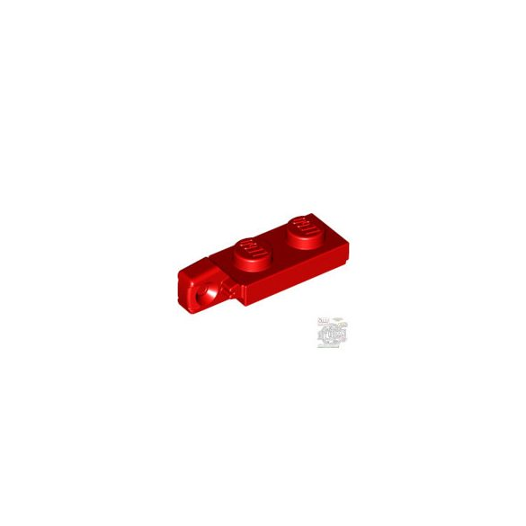 Lego PLATE 1X2 W/STUB VERTICAL/END, Bright red