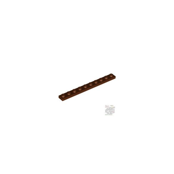 Lego Plate 1x10, Reddish brown