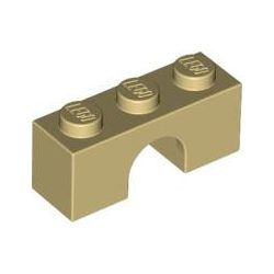 Lego BRICK W. BOW 1X3, Tan