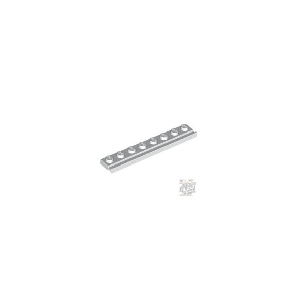 Lego PLATE 1X8 WITH RAIL, White