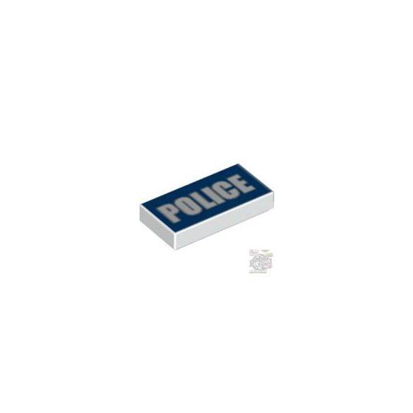 Lego FLAT TILE 1X2 'NO. 115', White