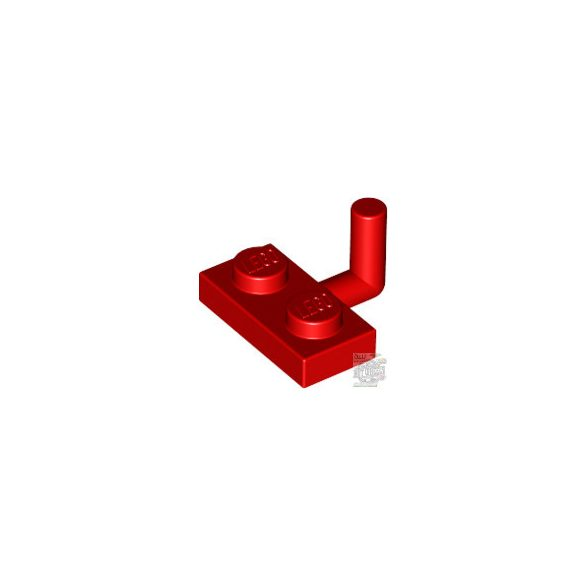 Lego PLATE W. HOOK 1X2, Bright red