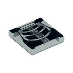Lego FLAT TILE 2X2 'NO. 4', Transparent light blue