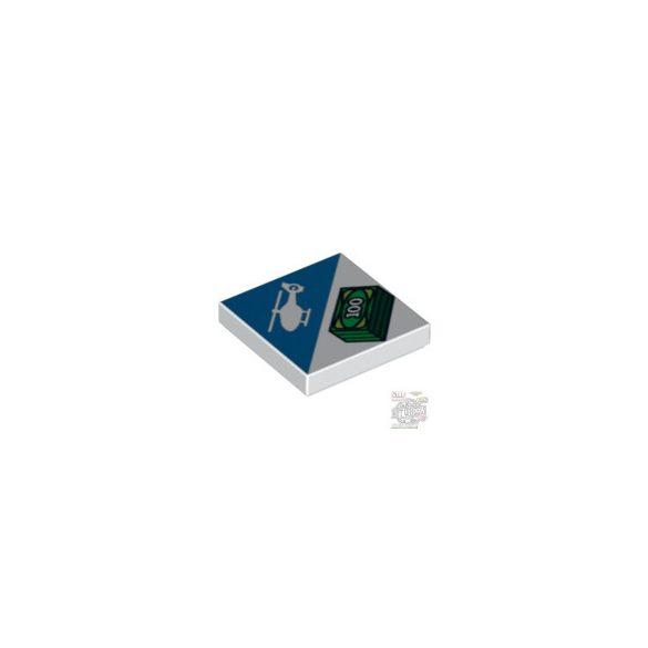 Lego FLAT TILE 2X2 'NO.204', White