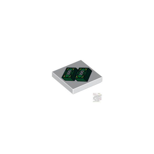 Lego FLAT TILE 2X2 'NO.205', White