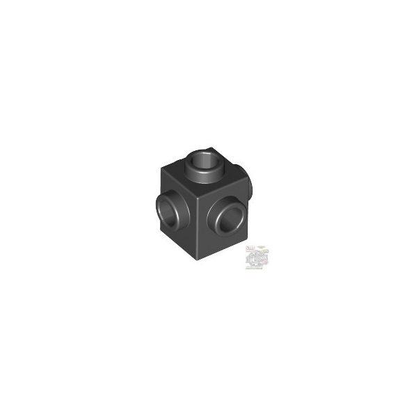 Lego BRICK 1X1 W. 4 KNOBS, Black