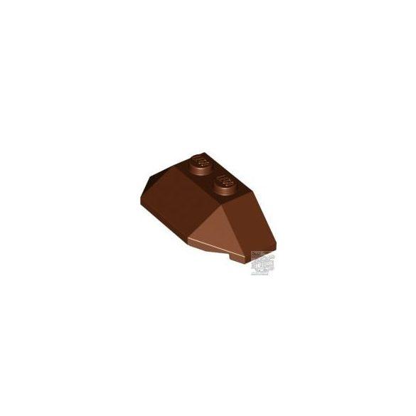 Lego ROOF TILE 4X2 W. ANGL./SL.BOT., Reddish brown