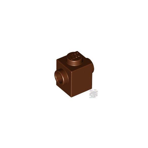 Lego BRICK 1X1 W. 2 KNOBS, Reddish brown