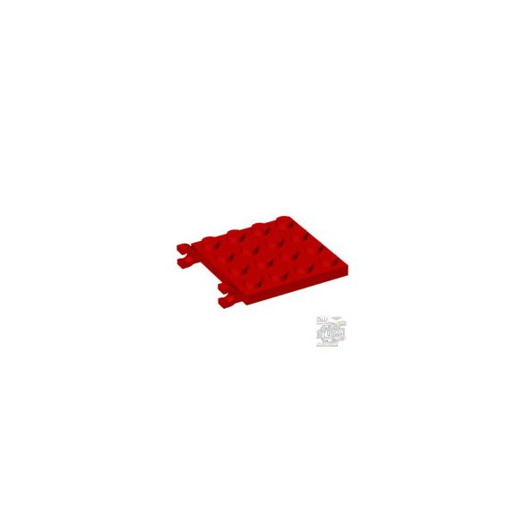 Lego PLATE 4X4 W/VERTICAL, Bright red