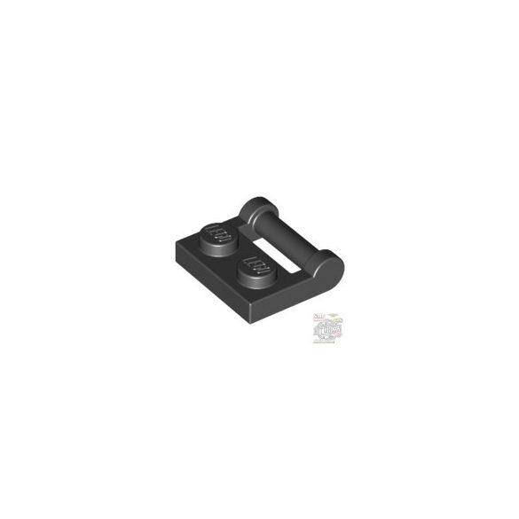 Lego PLATE 1X2 W. STICK 3.18, Black